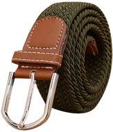 CUKKE Unisex Nylon Stretch Woven Belt Steel Buckle 110cm
