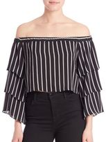 Nicholas Stripe Tiered Sleeve Top