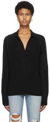KHAITE Black Cashmere Jo Sweater