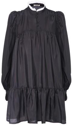 AVAVAV Ruffled Silk Mini Dress