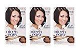 Clairol Nice 'n Easy Hair Color 121A, 3.5 Natural Darkest Brown 1 Kit (Pack of 3)
