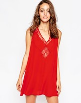 Love Skater Dress with Lace Keyhole