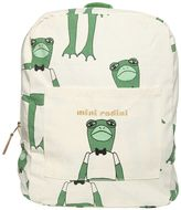 Mini Rodini Frogs Organic Cotton Canvas Backpack