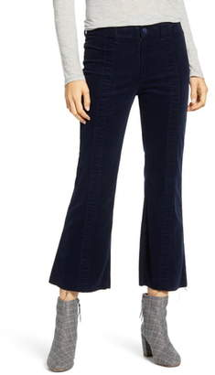 AG Jeans Quinne Paneled Corduroy Crop Flare Pants