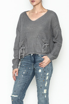 Do & Be Do-Be Tie Pocket Sweater
