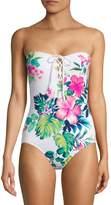 Tommy Bahama Fleur De Flora Floral One-Piece Swimsuit
