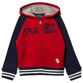 Ralph Lauren Red and Navy Raglan Hoodie