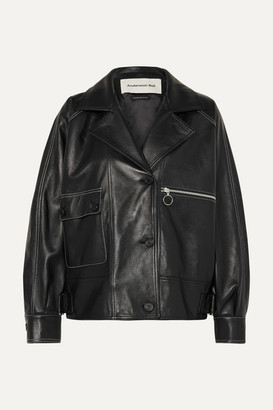 ANDERSSON BELL Oversized Leather Jacket - Black