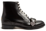 Gucci Queercore Leather Brogue Boots