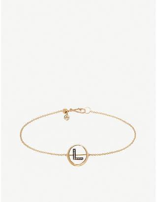 Annoushka 18ct yellow gold and diamond Initial L bracelet