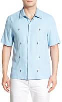 Nat Nast &Flores& Regular Fit Short Sleeve Silk Sport Shirt