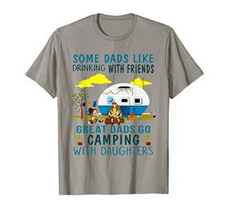 Great Dad Go camping with Daughter Fathers day T shirt