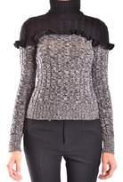 philosophy Women's Grey/black Wool Sweater.