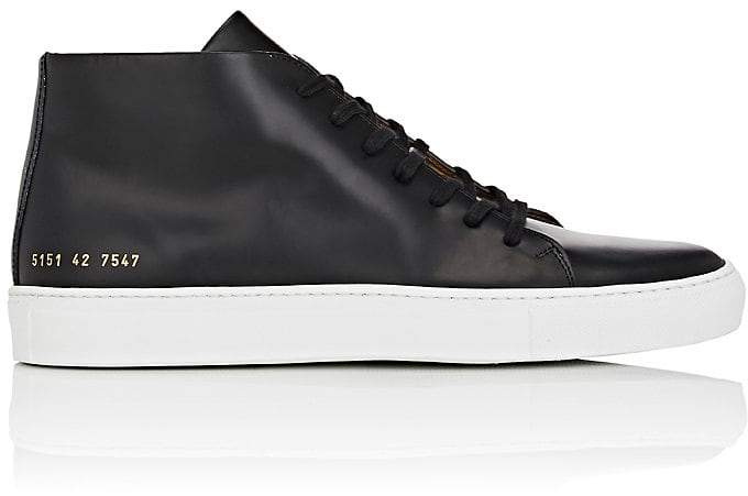 Common Projects Men's New Court Spazzolato Leather Sneakers