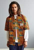 Mojo Kojo Kente Stripe Short Sleeve Button-Down Shirt