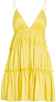 Jonathan Simkhai Isla Tiered Satin Mini Dress