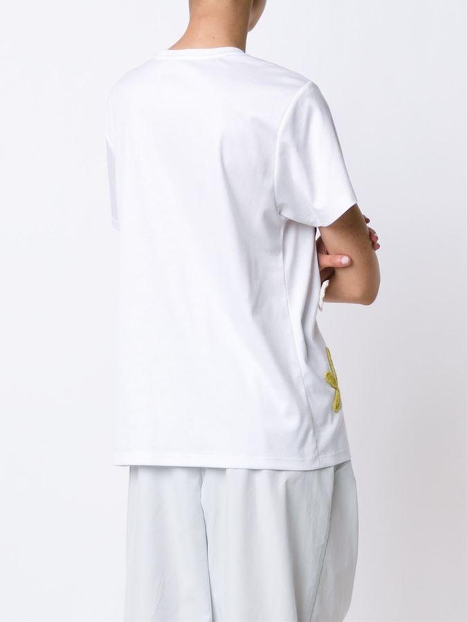Vika Gazinskaya crochet appliqué T-shirt