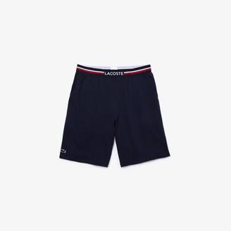 Lacoste Men's Striped-Waist Long Boxer Briefs