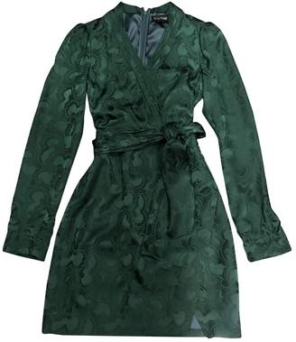 Saloni Green Silk Dress for Women