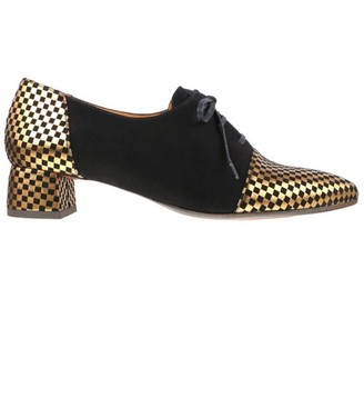 Chie Mihara Bronze and Black Lace Up Shoes - 36