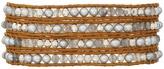 Chan Luu 32' Grey Pearl Mix Wrap Bracelet