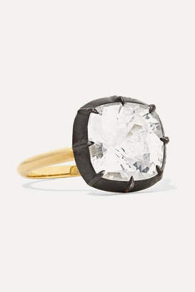 Fred Leighton Collection 18-karat Gold, Sterling Silver And Topaz Ring - 6