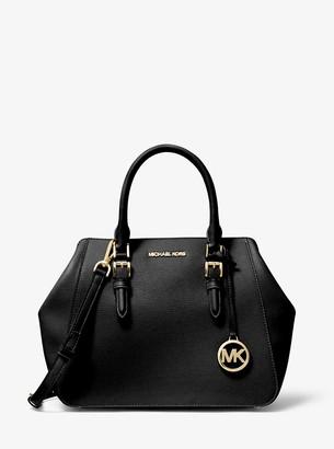 MICHAEL Michael Kors Charlotte Large Leather Satchel