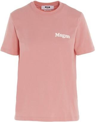MSGM Bold Logo Crewneck T-Shirt