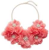Expression Chiffon Stone Flower Necklace