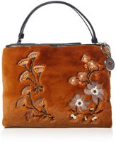Marella Betta faux fur embroidered bag