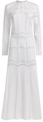 Gabriela Hearst Linen Lace-Detail Dress