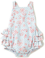 Mud Pie Baby Girls Newborn-12 Months Rose Printed Romper