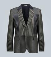 Alexander McQueen Patchwork pinstriped blazer