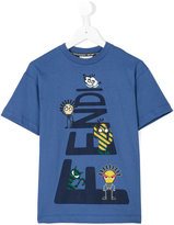 Fendi cartoon print T-shirt