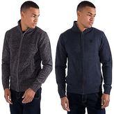 Kangol Mens Zip Up Funnel Neck Winter Knitwear Jumper Sweater Top Sizes S - XXL