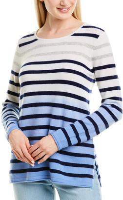 InCashmere Striped Cashmere Sweater