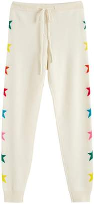 Parker Chinti & Cream Wool-cashmere Ski Star Track Pants