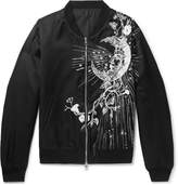 Alexander McQueen - Embroidered Satin Bomber Jacket
