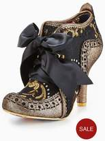 Irregular Choice Abigails 3rd Party Lace Up Shoe Boot - Black/Gold