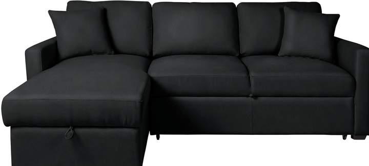 argos home reagan left corner faux leather sofa bed rh shopstyle co uk