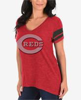 Profile Women's Cincinnati Reds Check the Tape Plus Size T-Shirt