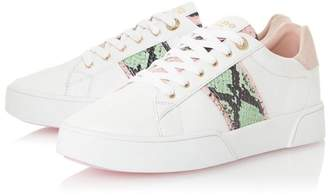 Dune London Womens Animal Elsie Reptile Lace Bumper Sole Trainers - Animal