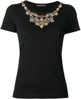 Alexander McQueen jewel embellished T-shirt - women - Cotton/plastic/metal/glass - 40