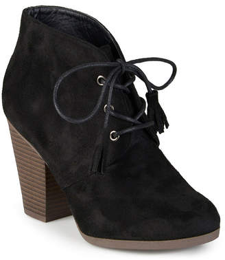 Journee Collection Womens Wen Heeled Ankle Booties
