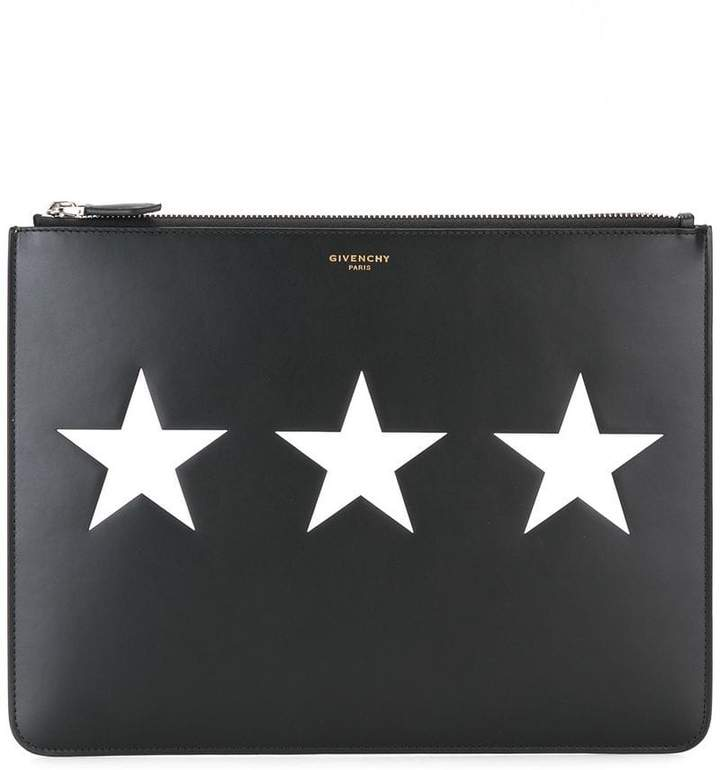 Givenchy star motif pouch