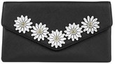 Jessica McClintock Arielle Floral Applique Large Envelope Clutch.