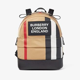BURBERRY KIDS Small Nico Stripe Logo Backpack (Little Kid/Big Kid) (Archive Beige) Backpack Bags