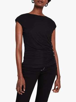 Damsel in a Dress Kimi Stud Jersey Top, Black