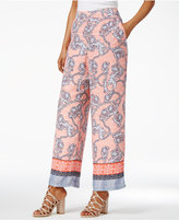 Thalia Sodi Printed Wide-Leg Soft Pants, Only at Macy's