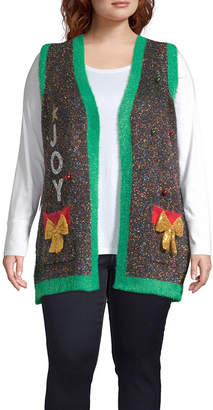 FASHION AVENUE KNITS Tinsel Vest-Plus